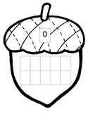 Acorn Fall Thanksgiving Math 10 ten frame 0-20 ESL center one to one corresp