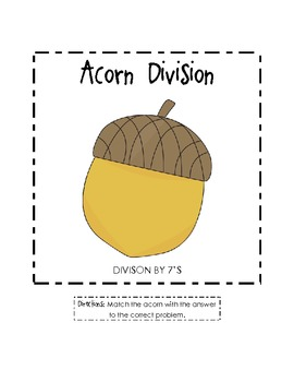 Acorn File Folder Game (Division by 7's)