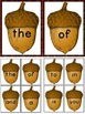 Fall Acorn Fry 1st 100 Words High Frequency Sight Word Flashcards & Posters