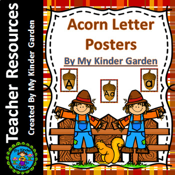 Fall Acorn Alphabet Letter Posters / Word Wall Headers