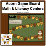 Acorn Game Board-Editable! Great for Sight Words & More!