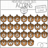 Acorn Letter Tiles (Moveable Clipart) by Bunny On A Cloud
