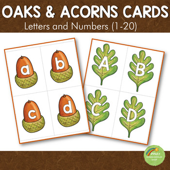 Acorn Letter and Number Cards