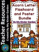 Fall Acorn Letter and Number Flashcards and Posters Big Bundle