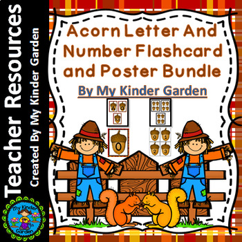 Acorn Letter and Number Flashcards and Posters Big Bundle