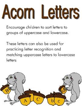 Acorn Letters Activity