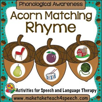 Acorn Match- Rhyme