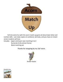 Acorn Match Up