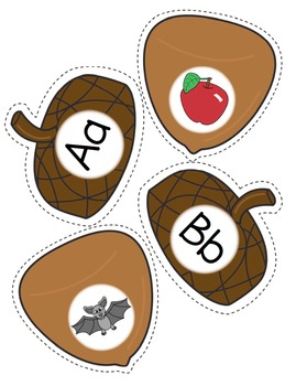 Alphabet - Acorn Matching