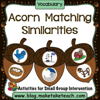 Vocabulary - Acorn Matching
