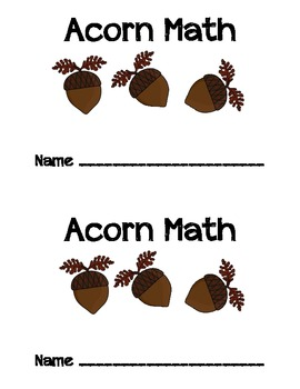 Acorn Math Booklet