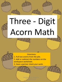 Acorn Math Three-Digit Addition And Subtraction With And Without Regrouping
