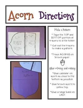Acorn November Calendar