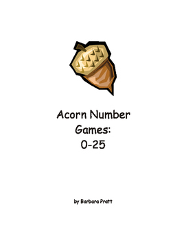 Acorn Number Game and Flashcards: 0-25 eBook