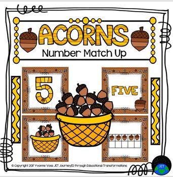 Acorn Number Match Up Math Center