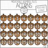 Acorn Number Tiles (Moveable Clipart) by Bunny On A Cloud