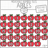 Apple Number Tiles (Moveable Clipart) by Bunny On A Cloud