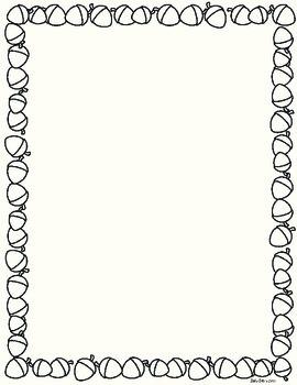 Acorn / Nut Framed page - Free! {Z is for Zebra}