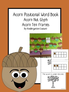 Acorn Nut Glyph, Positional Word booklet and ten frames