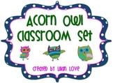 Acorn Owls Classroom Set