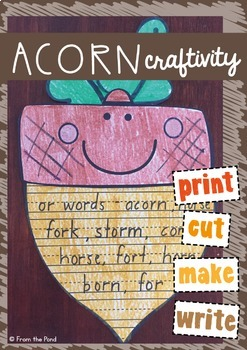 Acorn Paper Craft Writing Activity {or sound}