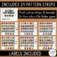 Acorn Patterns (Worksheets + File Folder Game)