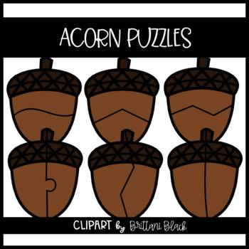 Acorn Puzzles~ Clipart
