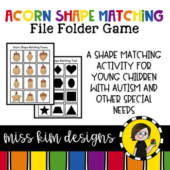 Folder Game: Acorn Shape Matching for Students with Autism & Special Needs