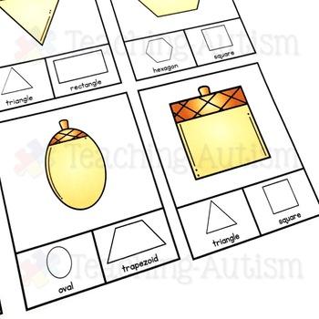 Acorn Shape Recognition Task Cards