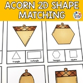 Fall Shape Recognition Task Cards Autumn