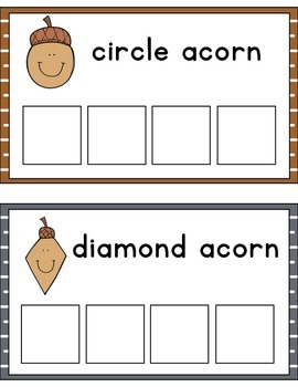 Acorn Shape Sorting