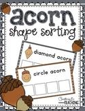 Acorn Shape Sorting