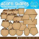 Acorn Shapes Clipart
