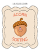 Acorn Sorting File Folder Game