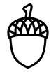 Acorn Template Acorn Coloring Page Acorn Outline Acorn Art Acorn Bulletin Board
