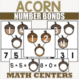 Acorn Themed Addition Centers for Kindergarten