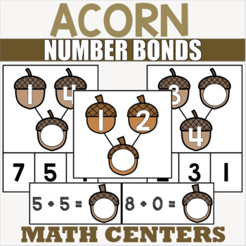Acorn Themed Addition Centers for Kindergarten