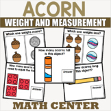 Acorn Themed Measurement Data and Geometry Centers for Kindergarten