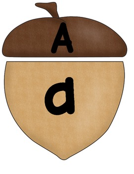 Acorn Upper Case and Lower Case Letter Match