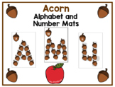 Acorn Uppercase Alphabet and Number Mats for Loose Parts