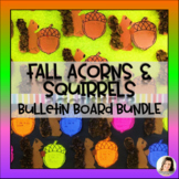 Acorn Writing Templates BONUS Squirrel Craft - Fall Writing Bulletin Board K 1 2