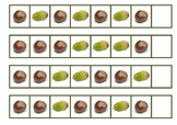 Acorn and Conker Pattern strips