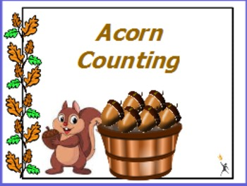Acorn counting ... counting to 10 with one to one correspondence