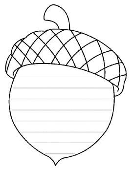 Acorn lined paper