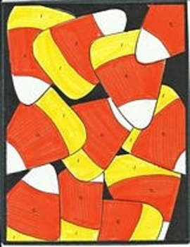 Candy Corn Halloween Color By Number