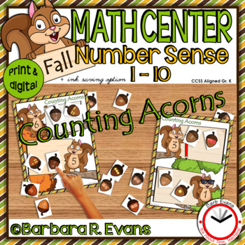 AUTUMN: Literacy Centers, Math Centers, Forest Activities, Fall Activities