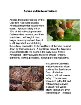 Acorns and Native Americans