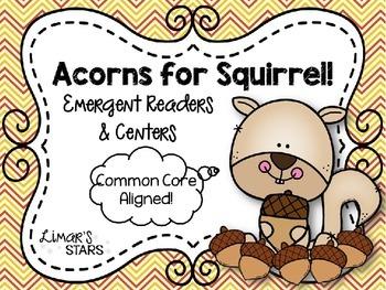 Acorns for Squirrel Emergent Reader & Centers