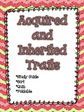 Acquired and Inherited Traits Packet *Quiz, Activity, & Study Guide*