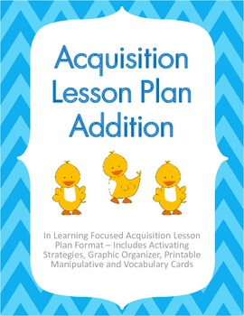 Acquisition Lesson Plan Addition